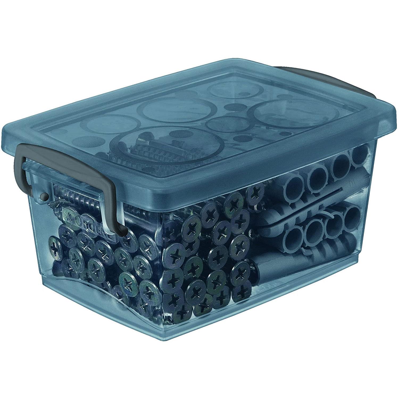 Mini Organizador com Alça e Trava  Bel Grafite 400ml - Ordene
